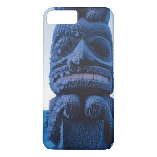 Winter Carved Alaskan Totem Pole Photo Designed iPhone 8 Plus/7 Plus Case