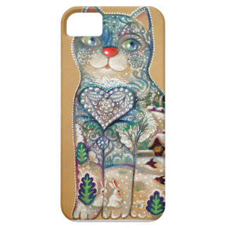 winter cat iPhone 5 cover