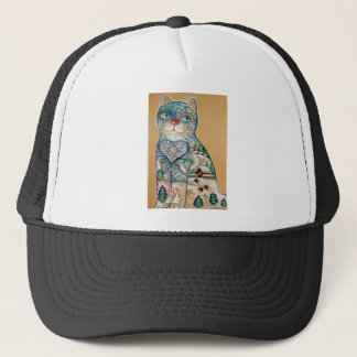 winter cat trucker hat