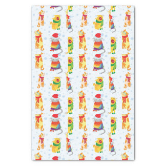 Winter Cats Tissue Paper