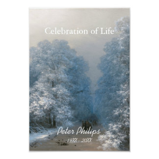 Winter Celebration of Life 2 Funeral Announcement