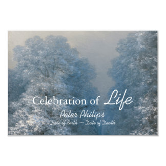 Winter Celebration Of Life Funeral Announcement