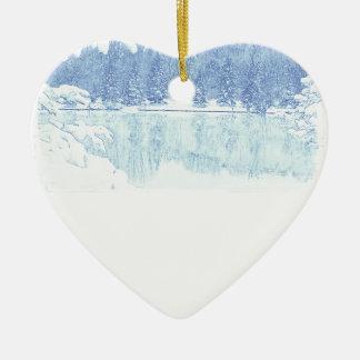 winter ceramic ornament
