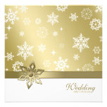 Winter Champagne and white Snowflakes Wedding Personalized Announcement
