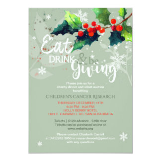 Winter Charity Dinner | Silent Auction Invitation