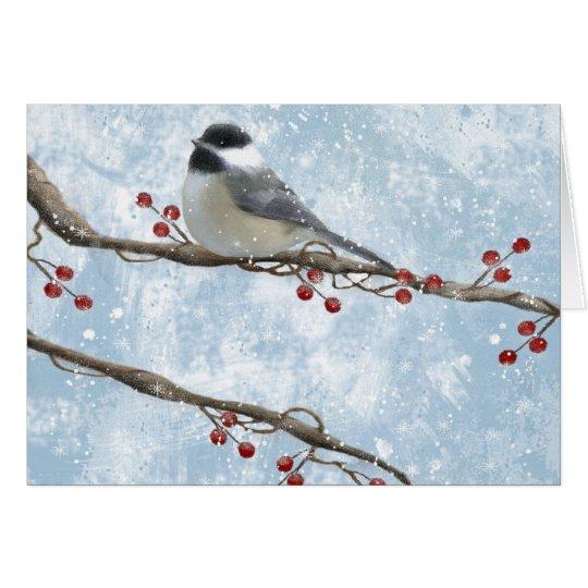 Winter Chickadee Card