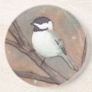 Winter Chickadee Coaster