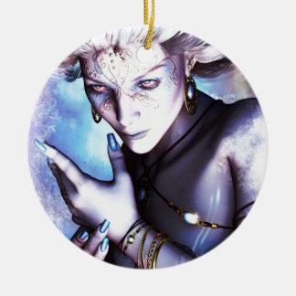 Winter Chill Round Ceramic Ornament