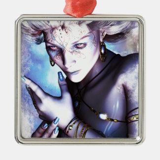 Winter Chill Silver-Colored Square Ornament