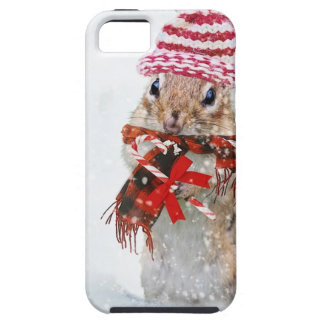 Winter Chipmunk Knit Hat Red Scarf Bundled Up iPhone 5 Cases