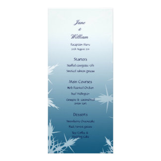 Winter / Christmas Snowflakes Wedding Menu