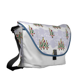 Winter Christmas Tree Pattern Messenger Bags