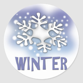 Winter Classic Round Sticker