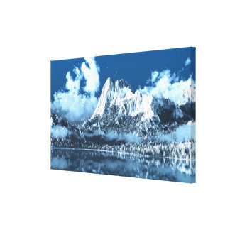 Winter Cliffs Canvas Print