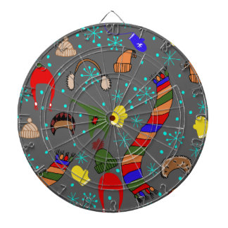 Winter clothes dartboards