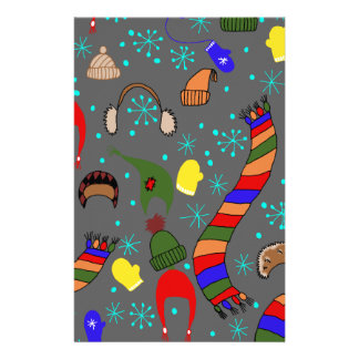 Winter clothes stationery