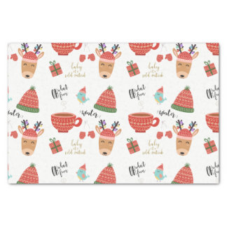 Winter Cold Holiday Christmas Rustic Kraft Country Tissue Paper