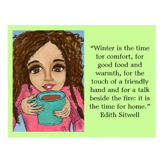 Winter comfort postcard