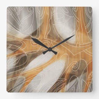 Winter Composition Square Wall Clock