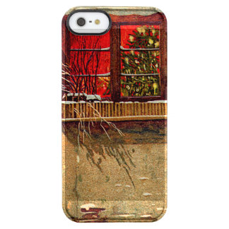 Winter Cottage Candlelit Christmas Tree Window Clear iPhone SE/5/5s Case