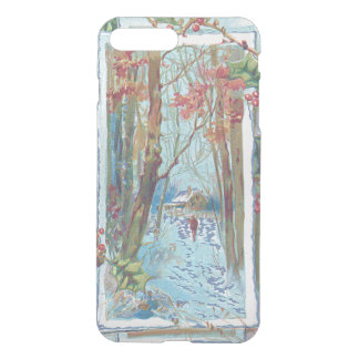 Winter Cottage Holly Winterberry Snow Walk iPhone 7 Plus Case