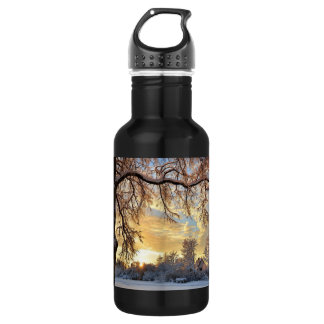 Winter Countryside In Latvia 532 Ml Water Bottle