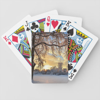 Winter Countryside In Latvia Bicycle Playing Cards