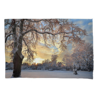 Winter Countryside In Latvia Pillowcase