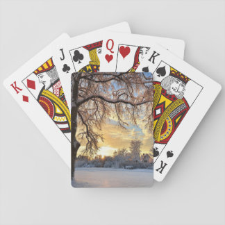 Winter Countryside In Latvia Playing Cards