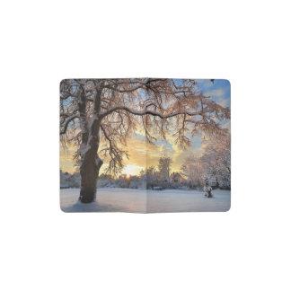 Winter Countryside In Latvia Pocket Moleskine Notebook