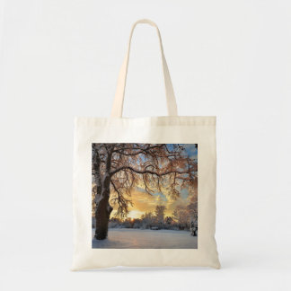 Winter Countryside In Latvia Tote Bag