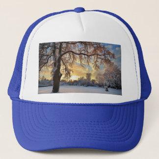Winter Countryside In Latvia Trucker Hat