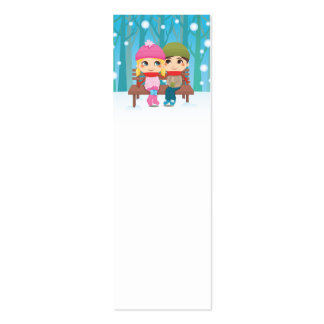 Winter Couple Mini Business Card