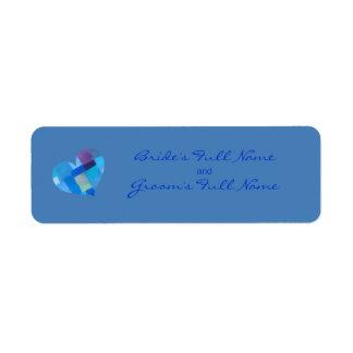 Winter danube Bride-Groom Sticker Label Return Address Label