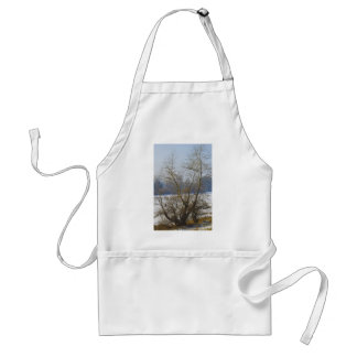 winter - danube river in frosty day standard apron