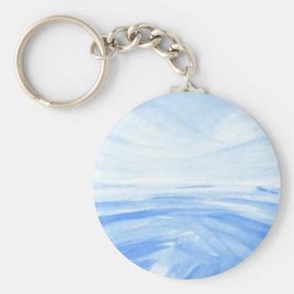 Winter Dawn Basic Round Button Keychain