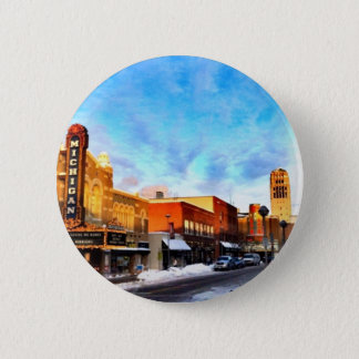 Winter Day In Ann Arbor 2 Inch Round Button