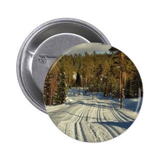 Winter day in Sweden 2 Inch Round Button