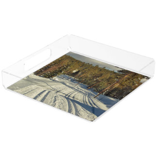 Winter day in Sweden Acrylic Tray