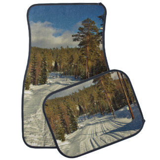 Winter day in Sweden Car Carpet