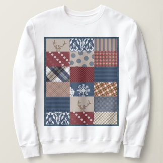 Winter Day Patchwork Sweatshirt