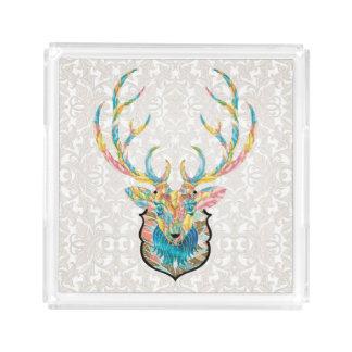 Winter Deer Harmony Acrylic Tray