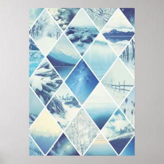 Winter Diamond Pattern Poster