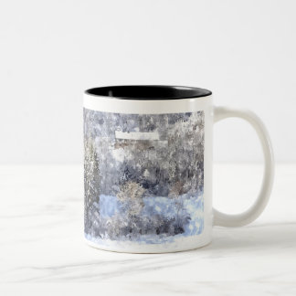 Winter… - Digital kind by Jean Louis Glineur Two-Tone Coffee Mug