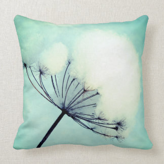 winter dill throw pillow