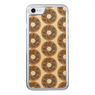 Winter Donuts with Blue Sprinkles Iced Chocolate Carved iPhone 7 Case