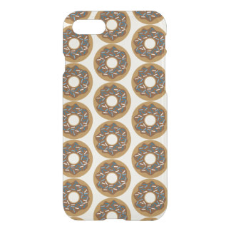 Winter Donuts with Blue Sprinkles Iced Chocolate iPhone 7 Case