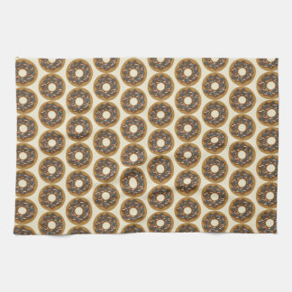 Winter Donuts with Blue Sprinkles Iced Chocolate Kitchen Towel