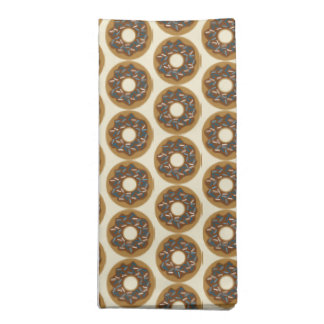 Winter Donuts with Blue Sprinkles Iced Chocolate Napkin