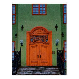 Winter Doorway Oslo Postcard